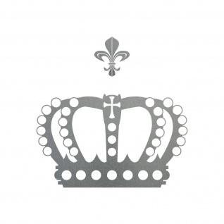 Krone mit Lilie 30cm silber Aufkleber Tattoo Deko Folie Auto Möbel Fenster Tür
