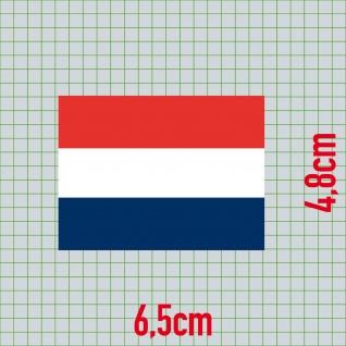 3 Aufkleber 6cm Sticker NL Niederlande Holland Fußball Deko EM WM Flagge Fahne - Vorschau 2
