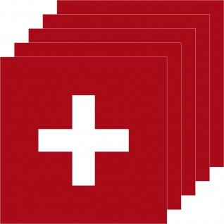5 Aufkleber 7cm Sticker Schweiz Swiss SUI CH Fußball EM WM National Flagge Fahne