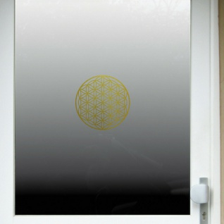 Aufkleber Tattoo 20cm gold Auto Tür Fenster Folie Blume des Lebens Lebensblume - Vorschau 5