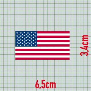 Aufkleber 6, 5cm Sticker US Flag USA Flagge Fahne Fußball Fan EM WM Deko - Vorschau 2