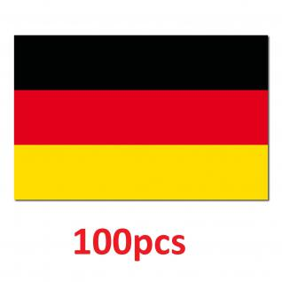 100 Aufkleber 8, 5cm Sticker BRD Deutschland Fußball National Fahnen Flaggen
