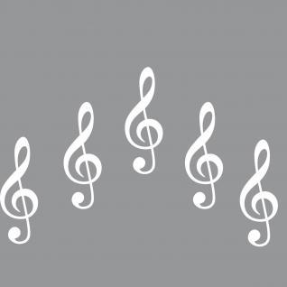 10cm weiß Aufkleber Tattoo Violinschlüssel Notenschlüssel Auto Fenster Tür Folie