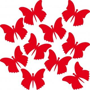 10 Aufkleber 10cm rot Tattoo Schmetterlinge Falter Deko Folie Auto Fenster Tür