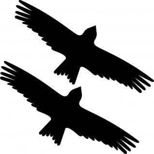 2 Aufkleber 25cm schwarz Milan Greif Warn Fenster Glas Tier Schutz Vogel Folie