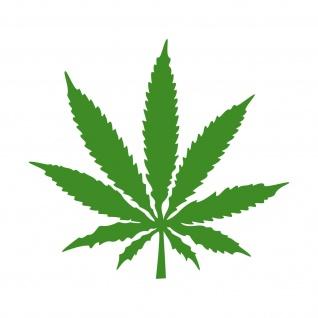 1 Hanf Blatt 20cm grün THC Gras Pflanze Marihuana Aufkleber Tattoo Deko Folie