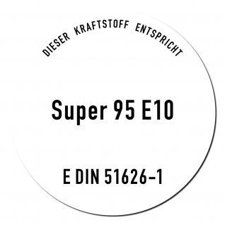 Aufkleber Sticker Super Benzin 95 E10 Kraftstoff Tankstelle Zapfsäule 51626-1 - Vorschau 1