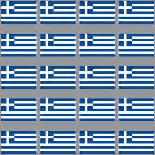 20 Aufkleber 3cm Griechenland GR Länder Fahne Flagge Mini Sticker RC Modellbau