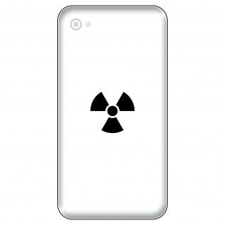 8 Aufkleber Tattoo 2, 5cm schwarz Radioaktiv Symbol Handy smartphone Deko Folie