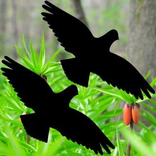 Warnvögel 35cm schwarz Habicht Vögel Warnvogel Aufkleber Vogel Fenster Schutz