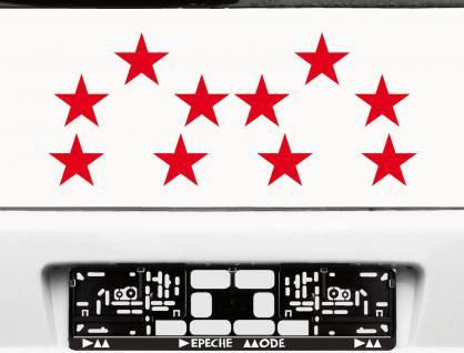10 Klebesterne 8cm rot Sterne Auto Fenster Aufkleber die cut Tattoo Wandtattoo