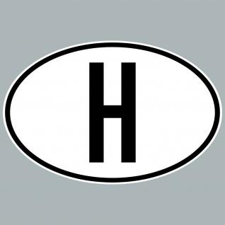 H Aufkleber Sticker Ungarn Länderkennung Länderkennzeichen 4061963084069