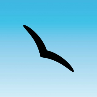 Aufkleber Schwalbe 20cm schwarz Silhouette schmal dezent Warnvogel Fenster Glas