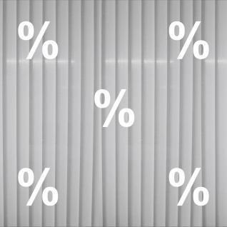 5 Aufkleber % 20cm weiß Prozent Zeichen Schaufenster Rabatt Verkauf Deko Folie
