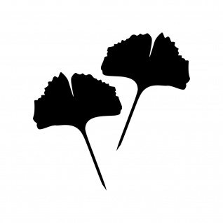 1 Paar 2 Blätter 20cm schwarz voll Ginkgo Blatt Aufkleber Tattoo Ginko Gingko