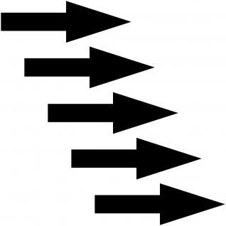 5 Aufkleber 10cm Pfeil schmal schwarz Auto Pkw Folie Hinweis Abschlepphaken