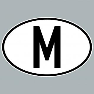 M Aufkleber Sticker Malta Länderkennung Länderkennzeichen 4061963084076