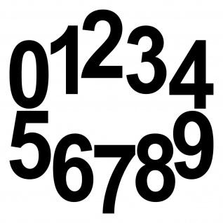 10 Aufkleber Tattoo 18cm schwarz Zahl Zimmer Haus Tür Spind Start Nummer Ziffer