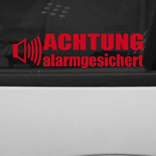 Achtung Alarmgesichert weiß gespiegelt Aufkleber Tattoo Auto Shop Fenster Folie
