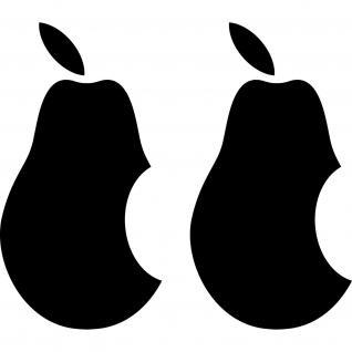 2 Aufkleber Tattoo Birne 10cm schwarz Apple verarsche Tablet Läppi Notebook Auto
