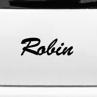 Robin 22cm Kinderzimmer Name Aufkleber Tattoo Deko Folie Auto Fenster Schrank