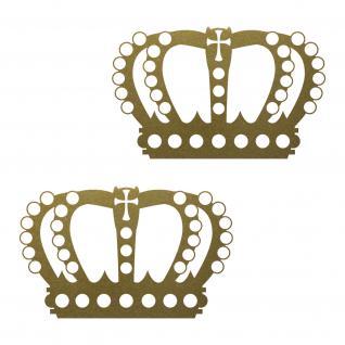 2 Kronen 12cm gold König Krone Aufkleber Tattoo Wandtattoo die cut Deko Folie