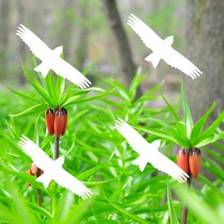 Warnvögel 10cm weiß Milan Warnvogel Aufkleber Vogel Fenster Glas Scheibe Schutz