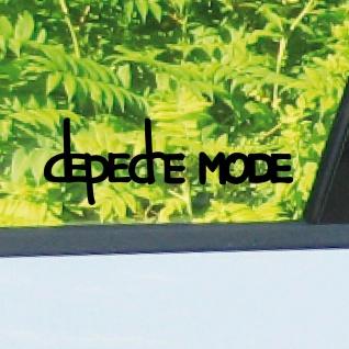 2 Aufkleber Tattoo 10cm schwarz Exciter Depeche Mode Auto Fahrzeug Deko Folie