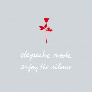 6cm Rose rot + 13cm depeche mode + enjoy the silence weiß Auto Aufkleber Tattoo