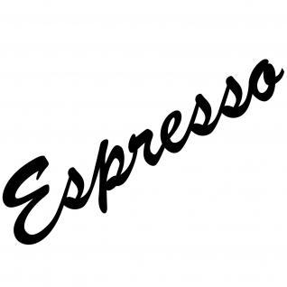 Espresso 30cm schwarz Schriftzug Wandtattoo Aufkleber Tattoo Deko Folie Küche