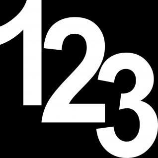 3 Aufkleber Tattoo weiß 18cm Ziffern Nummern Zahlen Zahl Nummer Hausnummer Folie