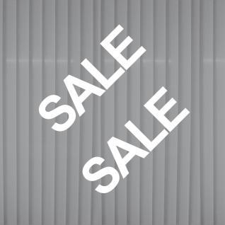 2 Aufkleber SALE 65cm weiß Schriftzug Schaufenster Rabatt Verkauf Deko Folie