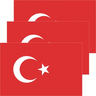 3 Aufkleber 8, 5cm Sticker TUR Türkei Türkiye Fußball EM WM National Flagge Fahne