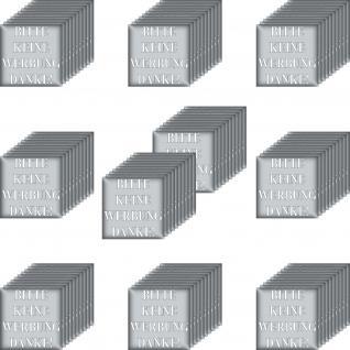 100 Aufkleber 5cm silber Sticker BITTE KEINE WERBUNG DANKE einwerfen Briefkasten