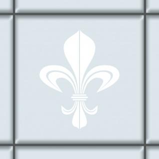 Bourbon Lilie 8cm weiß Aufkleber Tattoo Fliesen Spiegel Glas Tür Auto Heck Folie
