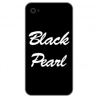 2 Aufkleber 6cm weiß Black Pearl Handy smartphone iPhone Tattoo Dekofolie