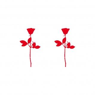 Rosen 6cm Aufkleber Tattoo für Auto Fenster Tür Spiegel Deko Folie Depeche Mode