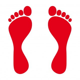 1 Paar 2 Füße 15cm rot Fuß Abdruck Spur Aufkleber Auto Möbel Tattoo Deko Folie