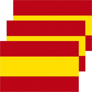 3 Aufkleber 8, 5cm Sticker Spanien Espana Fußball EM WM National Flaggen Fahnen