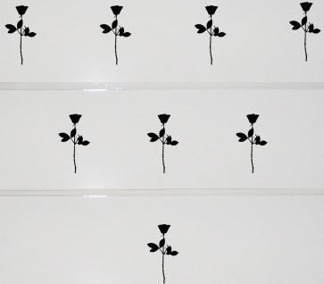 8 Rosen 10cm schwarz Aufkleber Tattoo Deko Folie Kinder Zimmer Schrank Komode