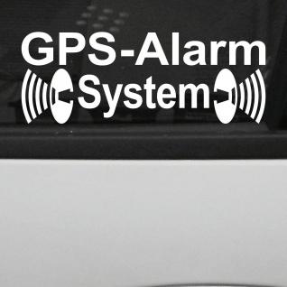 GPS Alarm System weiß gespiegelt Schaufenster Fensterscheibe Aufkleber Tattoo