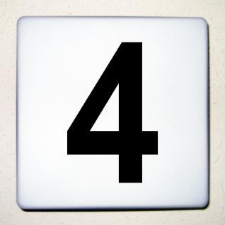 1 Stück 15cm schwarz Aufkleber Tattoo Hausnummer Wunschziffer Zahl Nummer Ziffer - Vorschau 1