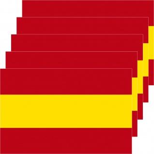 5 Aufkleber 8, 5cm Sticker Spanien Espana Fußball EM WM National Flaggen Fahnen