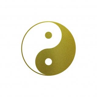 Aufkleber 20cm Yin & Yang gold Tattoo Taiji Symbol Deko Auto Fenster Folie