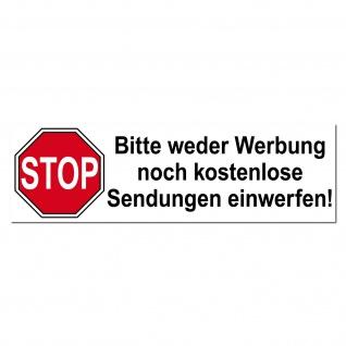 Stop Keine Werbung Aufkleber Indoor Briefkasten im Hausflus Sticker Warn Hinweis