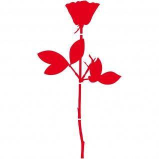 Rose 100cm 1m Aufkleber Tattoo Folie für Tür Auto Fenster Violator Depeche Mode