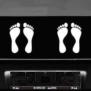 1 Paar 2 Füße 20cm weiß Fuß Abdruck Spur Aufkleber Auto Möbel Tattoo Deko Folie - Vorschau 4