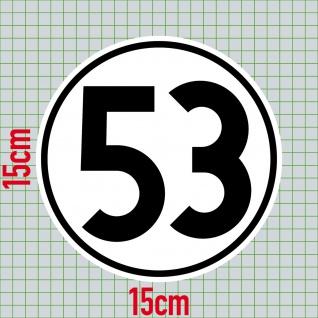 2 Aufkleber 15cm Herbie Nr 53 Start Nummer Ziffer Zahl Racing Auto Motor Sport - Vorschau 2