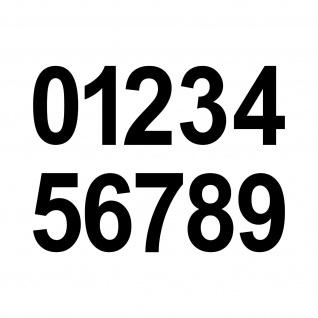 10 Aufkleber Tattoo 5cm schwarz Zahl Zimmer Haus Tür Spind Start Nummer Ziffer