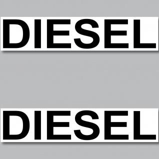 2 Aufkleber Diesel 20cm Sticker Hinweis Kraftstoff Tanken Kanister Auto Pkw Bus